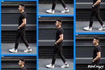 streetstyel, streetwear, michael william g, sneakers, white sneakers, stance, socks, all black, black style, men's style, men's look, new york, new york city, men's fashion