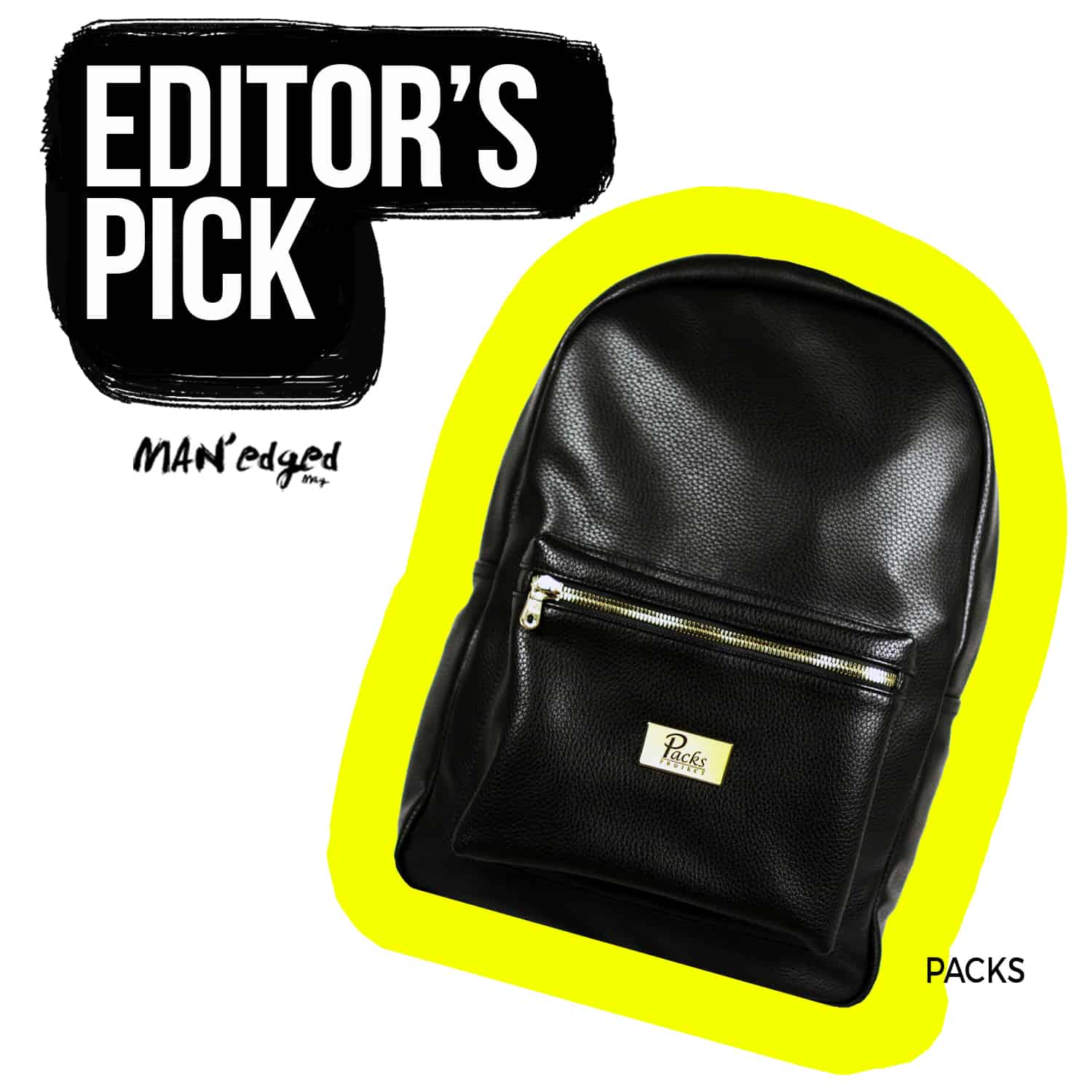editor's pick black packs project men's bag backpack style