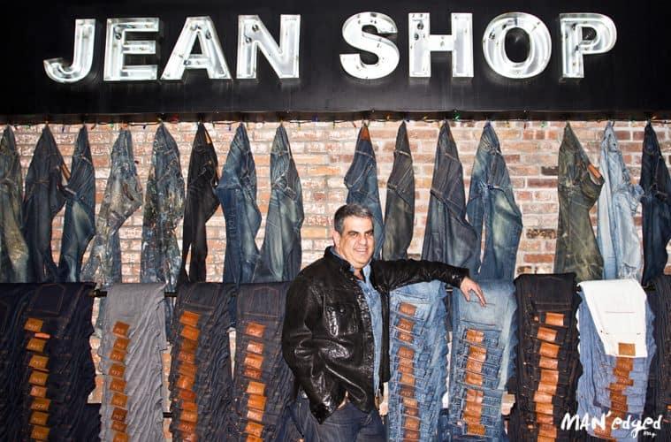 Men's denim guru and founder of Jean Shop, Eric Goldstein, poses inside denim store in SOHO