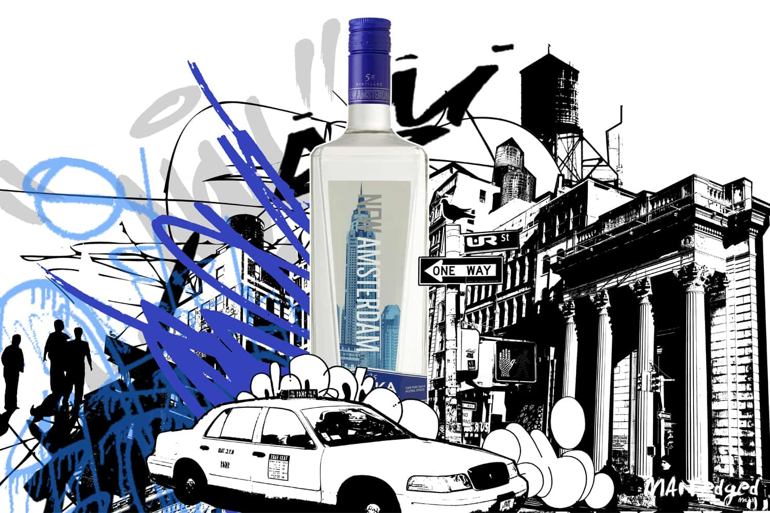 "UR New York mural painting featuring New Amsterdam vodka for ""It's your Town"" tour"