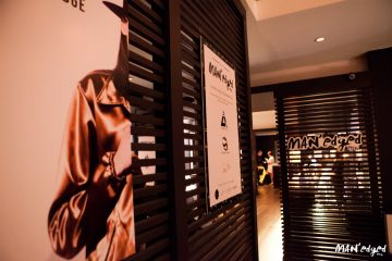 NYFWM MAN'edged Magazine event signage and ambiance at Parlor