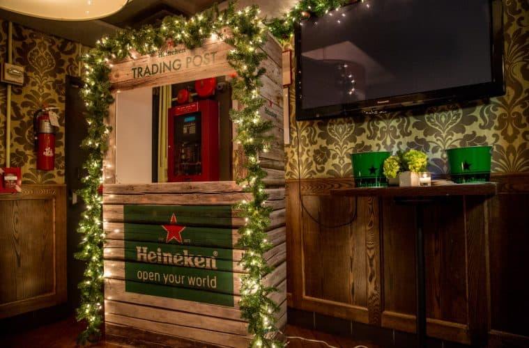 Heineken Holiday Trading Post inside New York City's Park Avenue Tavern