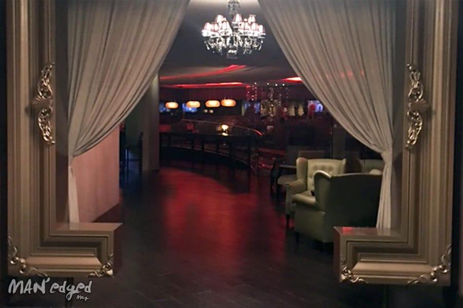 Sky Bar lounge entrance at Palace Resorts Moon Palace Cancun.