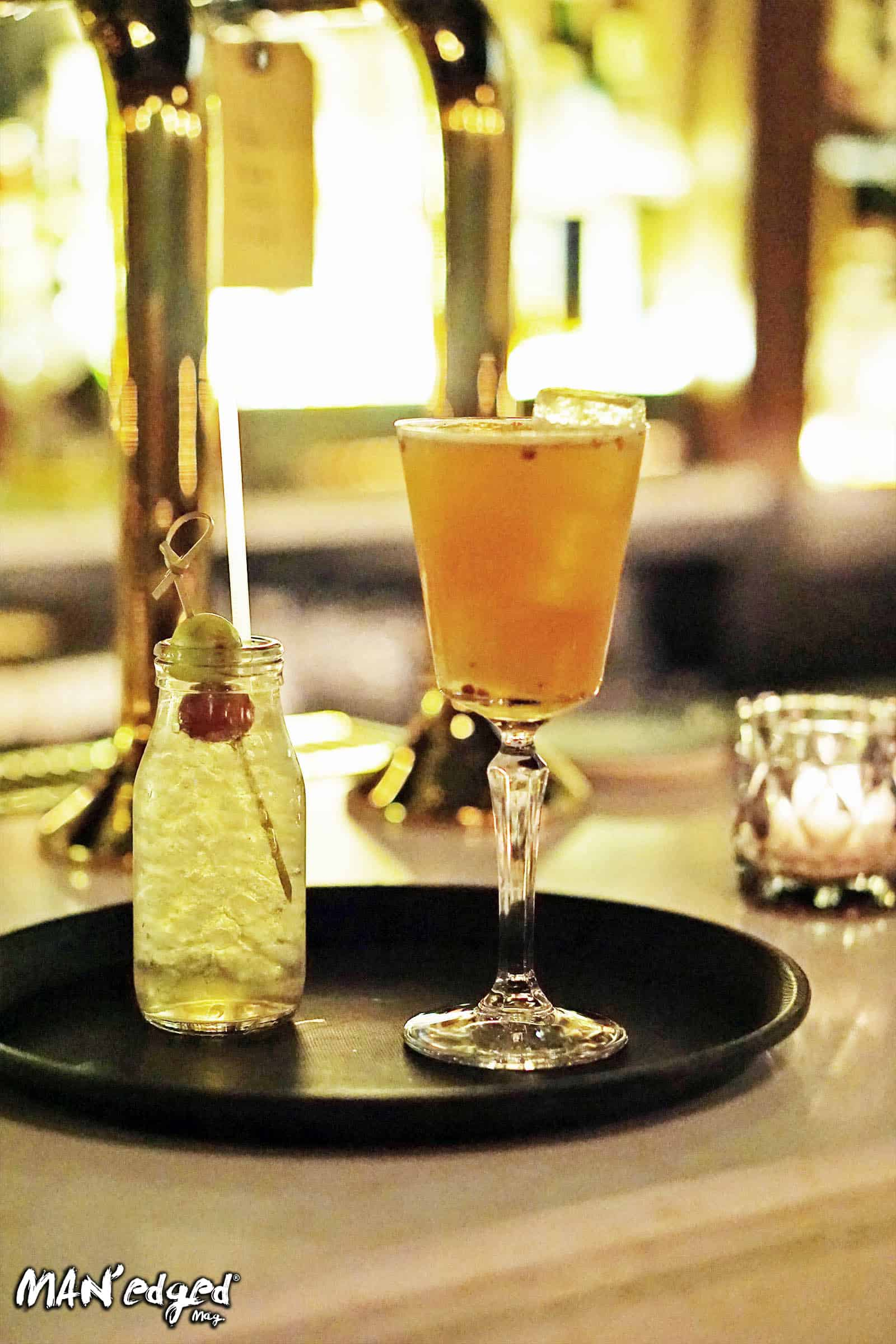two cocktails at VNYL