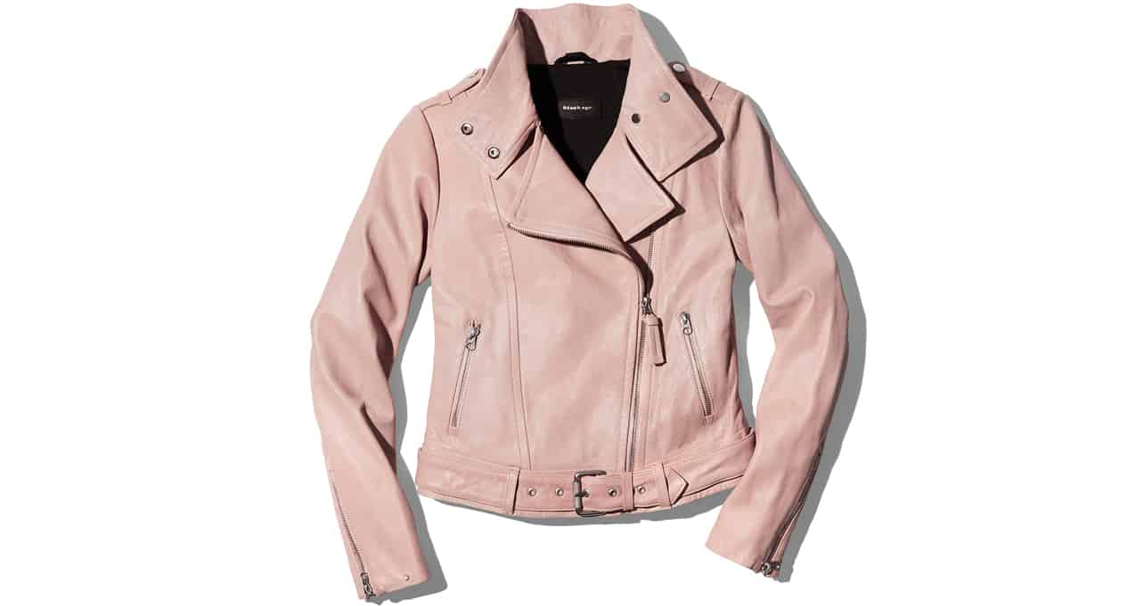 Pink moto jacket from Bloomingdales