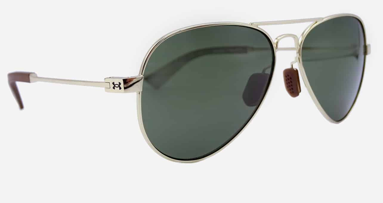 Gold Under Armour aviator sunglasses