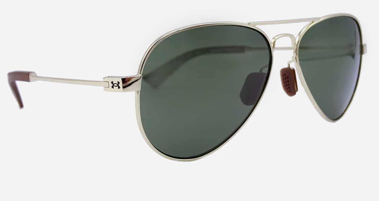 Gold Under Armour aviator sunglasses