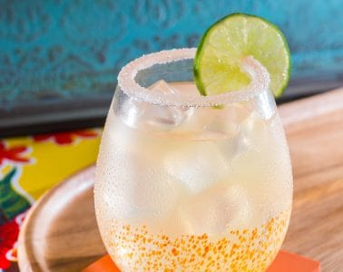 Classic Margarita cocktail drink with tequila