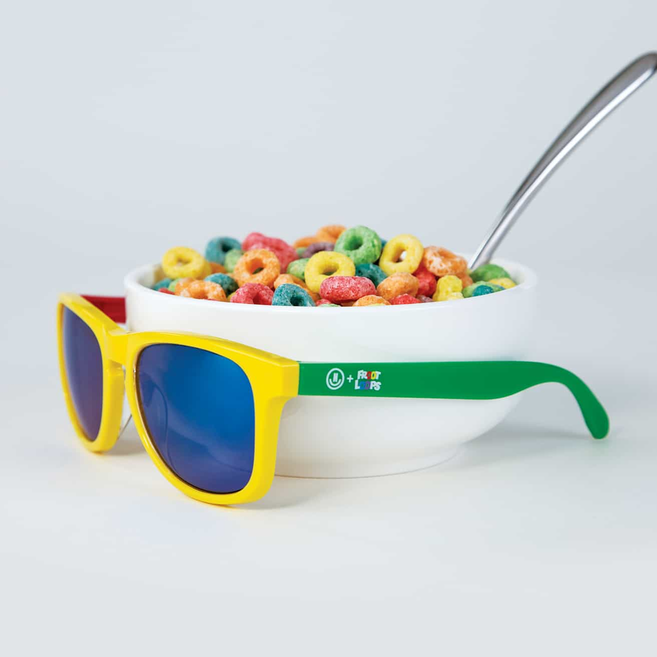Neff Sunglasses with bowl of fruit loops