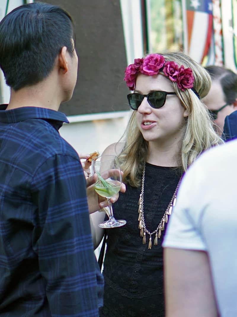 People talking at New York's Secret Summer Festival
