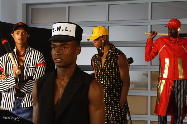 Male models posing at Men's Day Dune Studios in Wood House MAN'edged Magazine