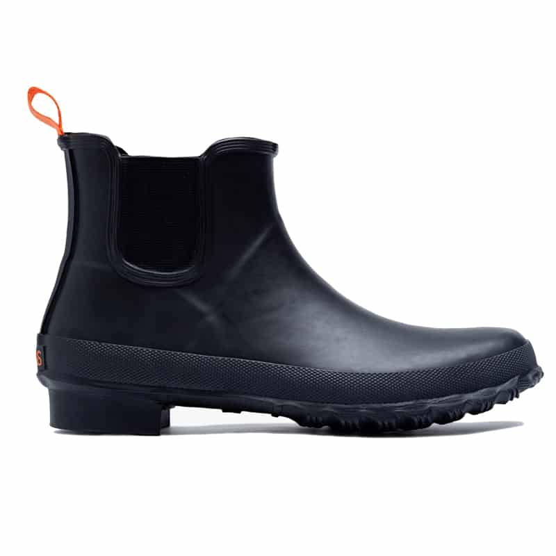 men's fall rubber boots in black