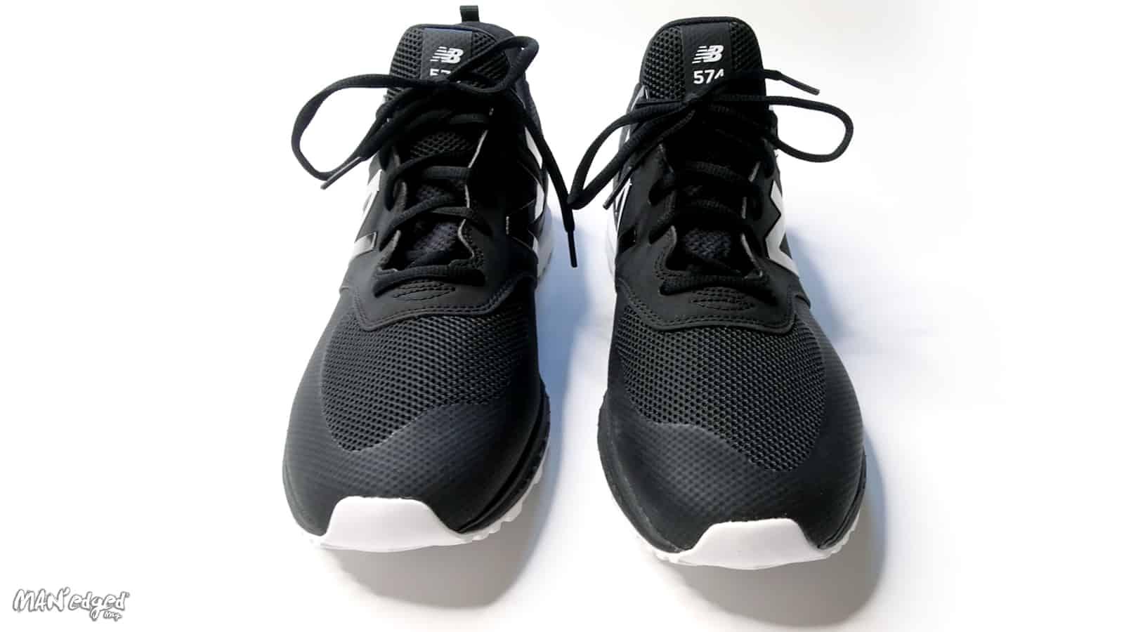 black men's new balance running shoe