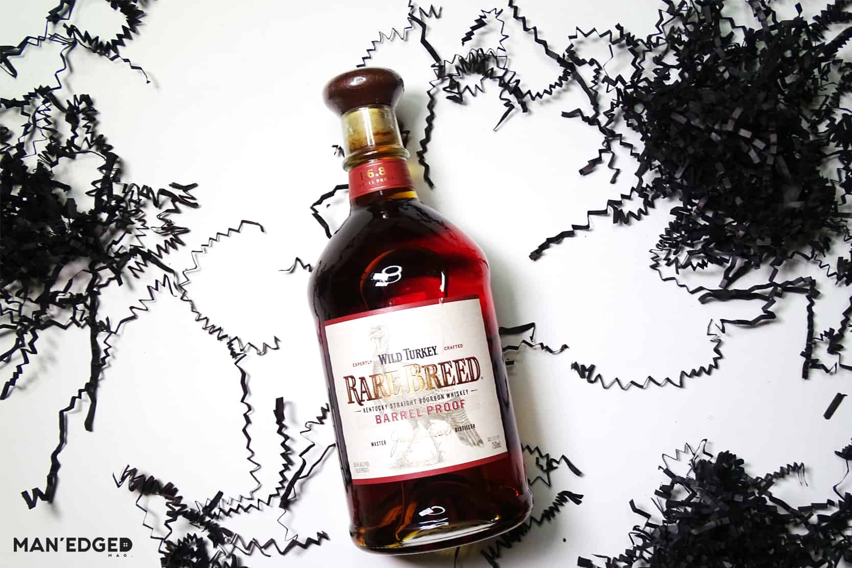 Wild Turkey Rare Breed Whiskey featured in MAN'edged Magazine's best whiskey to gift this holiday season