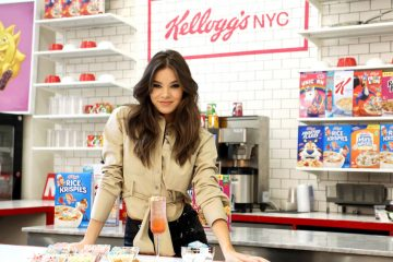 Hailee Steinfeld enjoys unique cereal creations created by Kellogg's®.