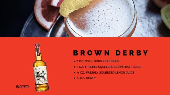 MAN'edged Magazine Brown Derby Cocktail Recipe Card