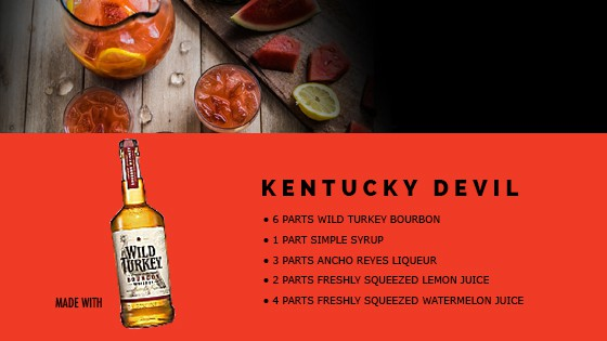 Kentucky Devil Cocktail Recipe Card