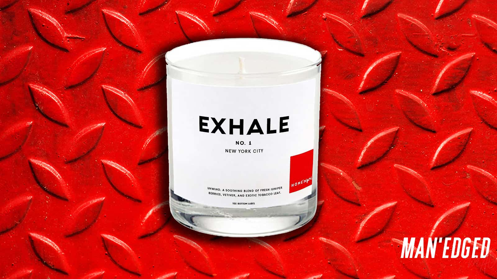 The best gifts for men - our top 19 gifting ideas that guys will love - Exhale no.1 candle from HOME'edged NYC all natural luxury candle.