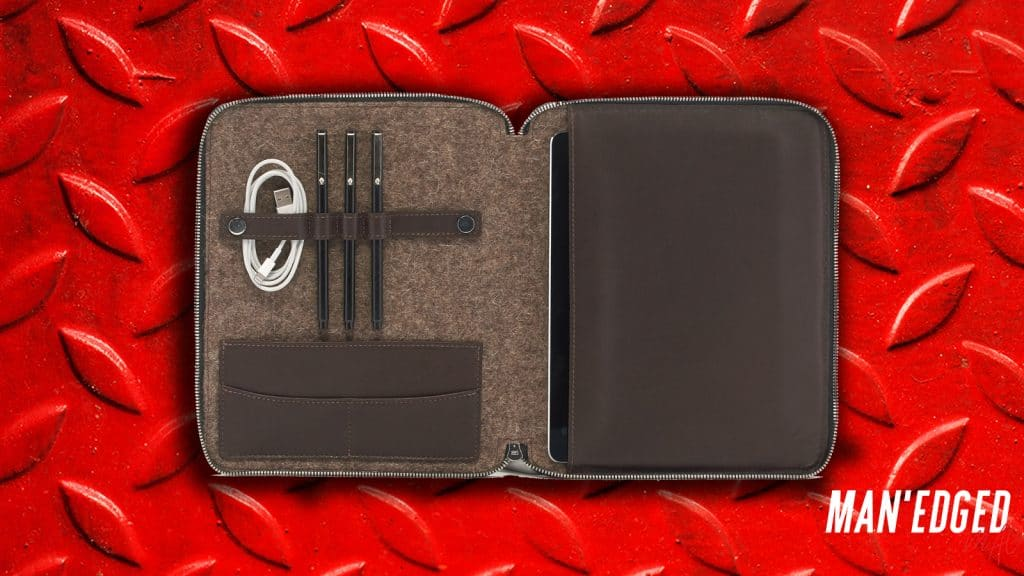 The best gifts for men - our top 19 gifting ideas that guys will love - the Graf Lantz leather travel case.