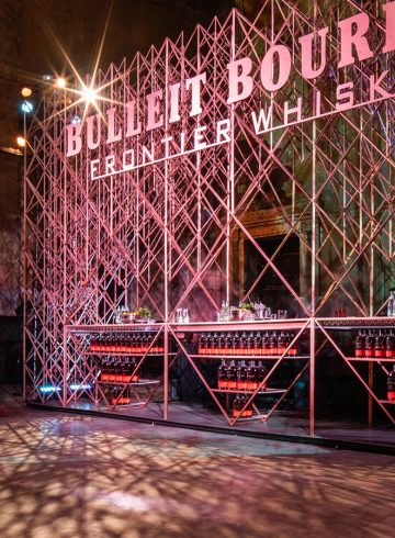 Bulleit's 3D pop up at Tribeca Film festival