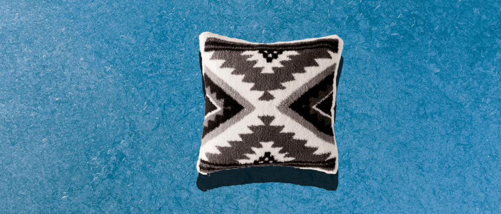 Tribal Eudora Printed Sherpa Throw Pillow featured in our 7 Apartment items roundup