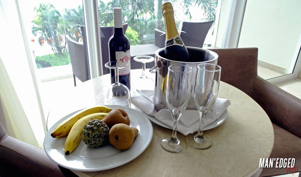 A champagne welcoming as you arrive to the Best Luxury five-Star All-Inclusive Resort in Jamaica