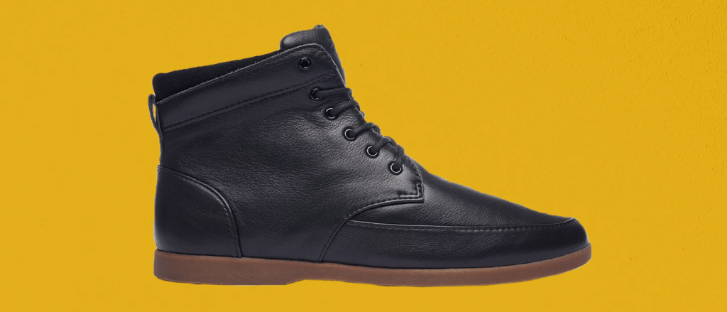 Clae Hamilton Black Milled Tumbled Leather Winter Boots