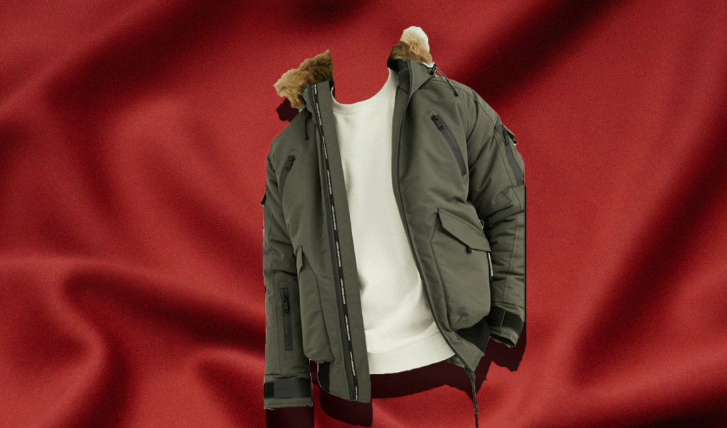 Good for Nothing Bomber Jacket in Olive with Faux Fur Hood in winter coat roundup