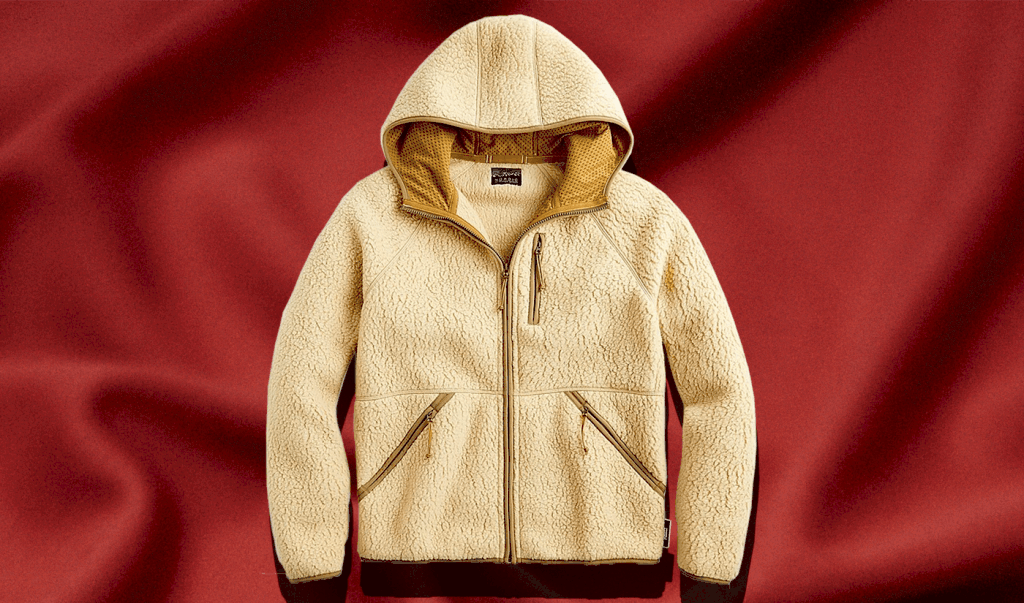 men's hooded sherpa jacket