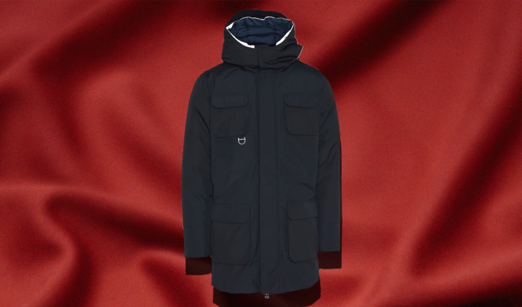 black mens parka jacket