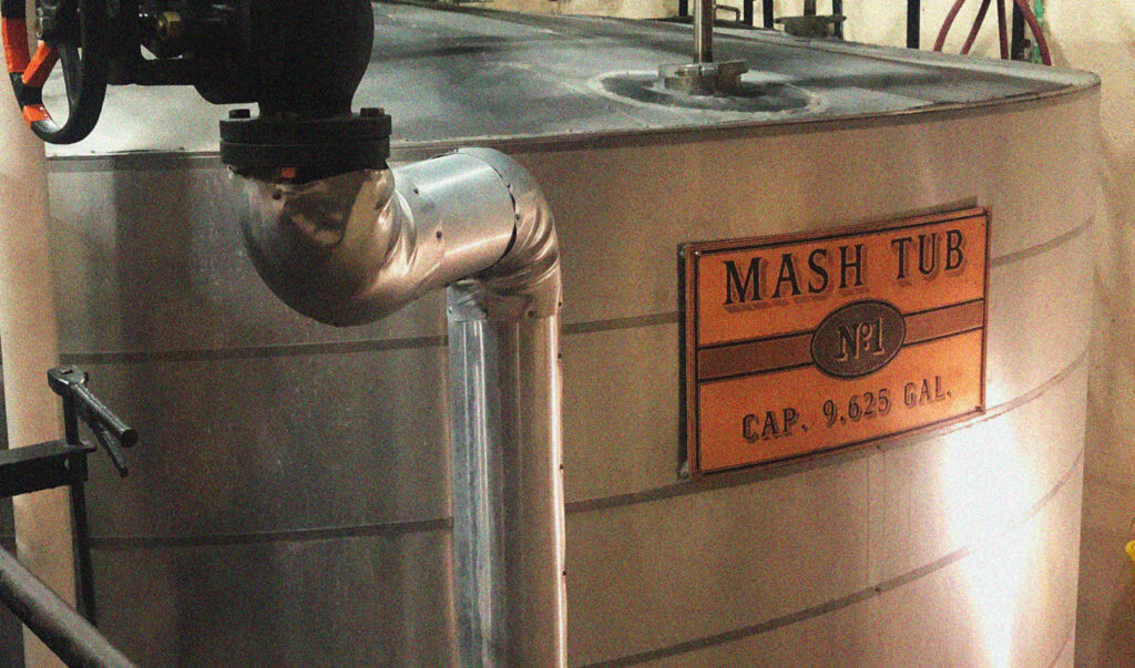 An up-close look at the mash tub process.