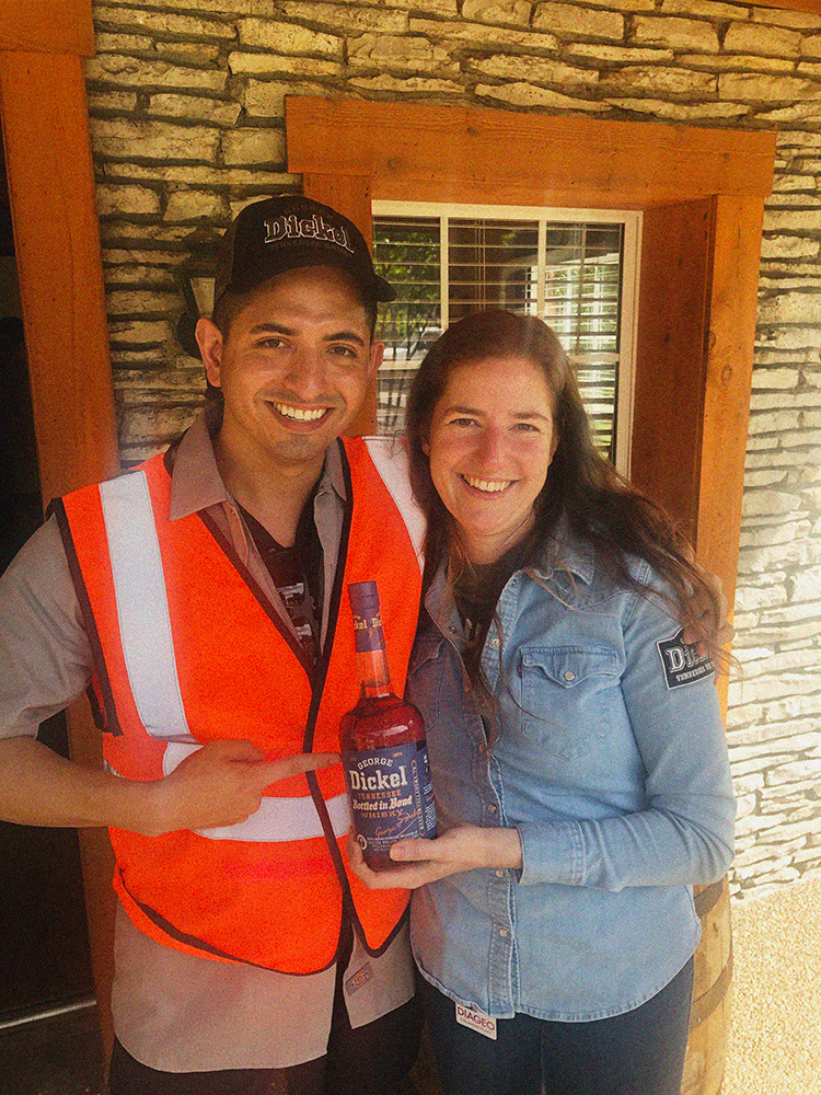 Nicole Austin, General Manager and Distiller of Cascade Hollow Distilling Co. photographed with MAN'edged Magazine Founder, Michael William G.