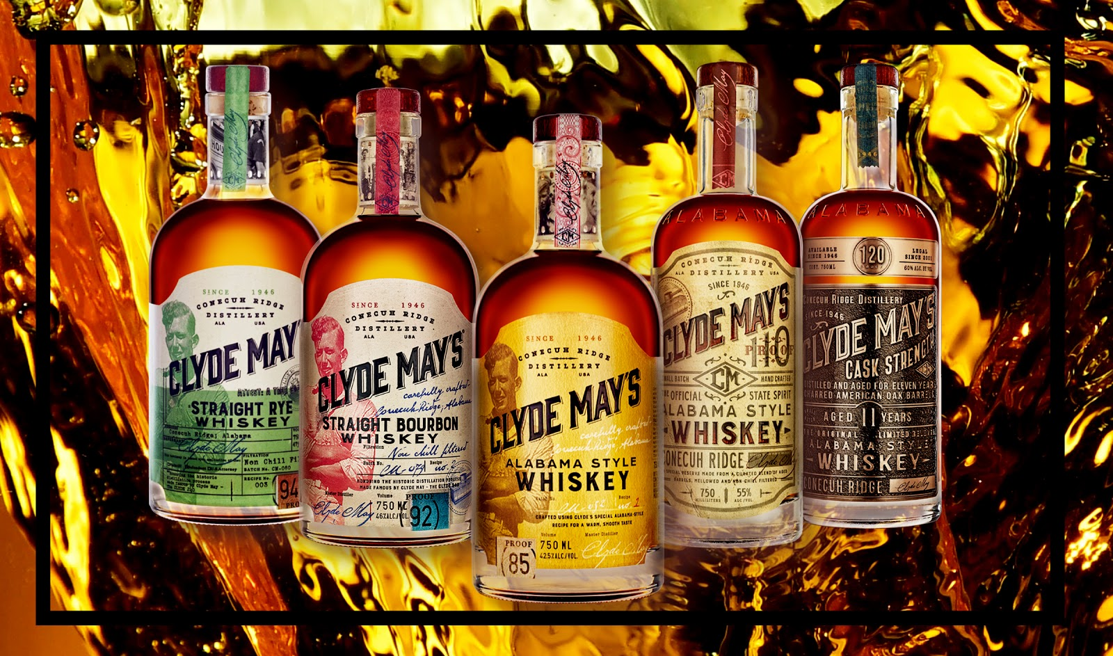 Clyde May's Whiskey Variations Bottles