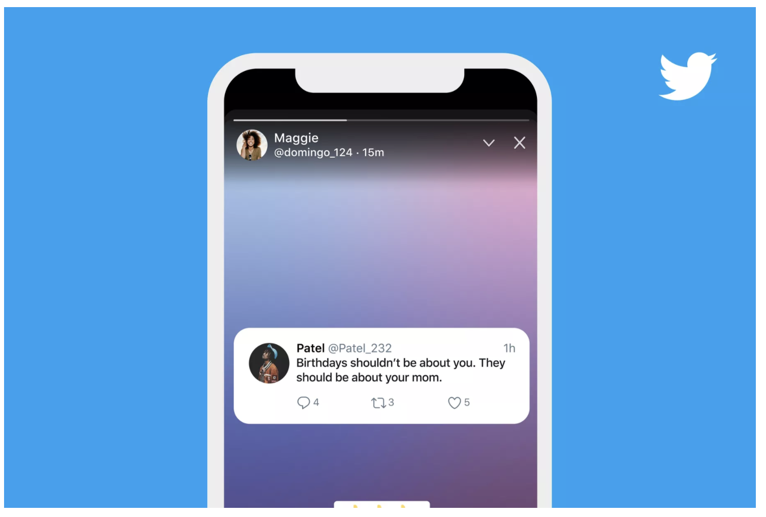 twitter's stories fleet mock up