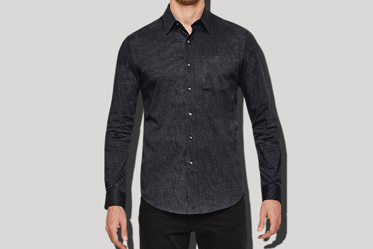 black men's non-iron button down shirt