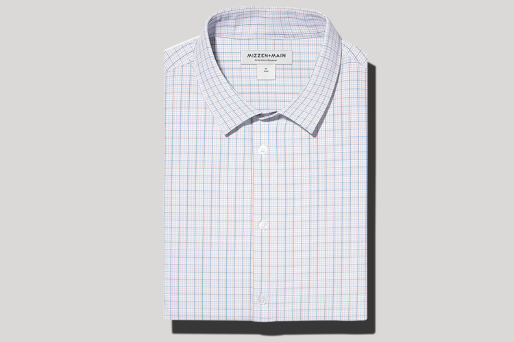 plaid men's dress shirt