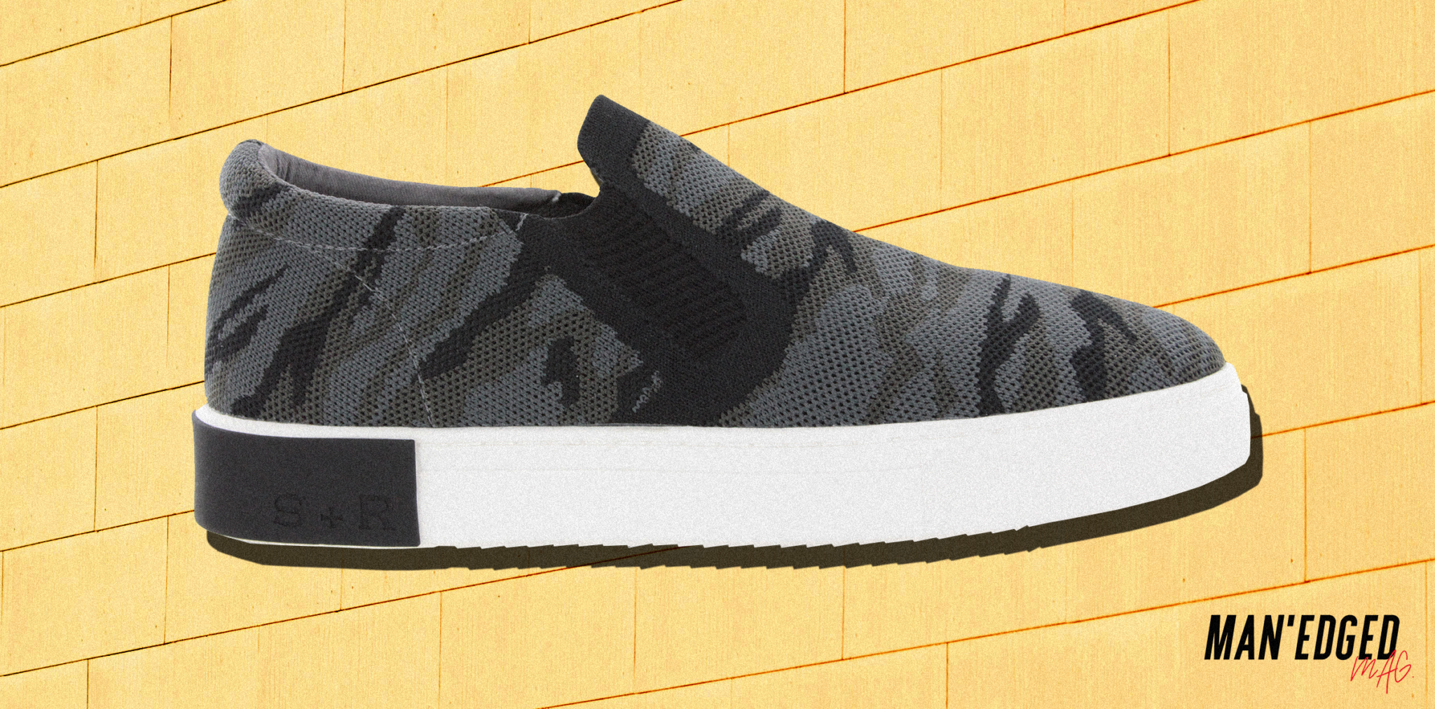 camo strass and ramm men's slip on sneaker
